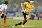 Beauden Barrett during the Super Rugby match at Free State Stadium in Bloemfontein, South Africa. Photo / Getty Images