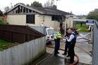 The scene of the fatal house fire. Photo / Christine Cornege