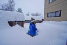 Heavy snow falls at Lake Tekapo came as a pleasant surprise to Tekapo artist Ryo Matsumoto today