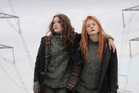 Alice Englert and Elle Fanninf in Ginger and Rosa.