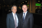 Auckland mayoral candidate John Palino with Prime Minister John Key at a breakfast held by MP Simon O'Connor.