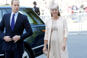 It's been revealed Prince William and Kate don't know the gender of their baby, which is due next month. Photo / AP