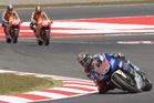 MotoGP rider Jorge Lorenzo leads the race followed by Dani Pedrosa and Marc Marquez, before wining Catalunya Gran Prix. Photo / AP