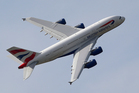 A British Airways A380 shows its form at the Paris Air Show. Photo / AP