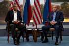 The photo above says it all: the US and Russia are poles apart on Syria. Photo / AP