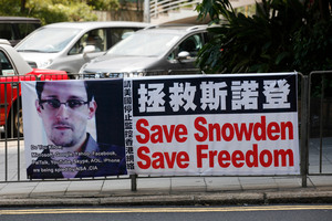 American whistleblower Edward Snowden has support around the world, including Hong Kong. Photo / AP