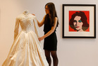 Elizabeth Taylor's first wedding dress, designed by the legendary costume designer Helen Rose is up for auction. Photo / AP