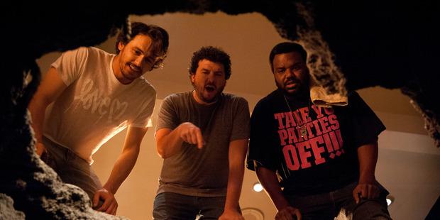 James Franco, Danny McBride and Craig Robinson find the movie has hidden depths. Photo / AP