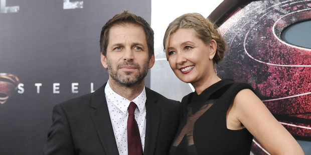 The husband and wife team of director Zack Snyder and producer Deborah. Photo / AP