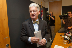 Prime Minister John Key forced Mr Dunne to resign. Photo / Mark Mitchell