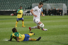 Chris Killen in action for the All Whites. Photo / Greg Bowker