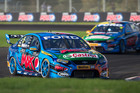 Mark Winterbottom yesterday took the chequered flag in Darwin for his first V8 Supercars race win in more than a year. Picture / Edge Photographics
