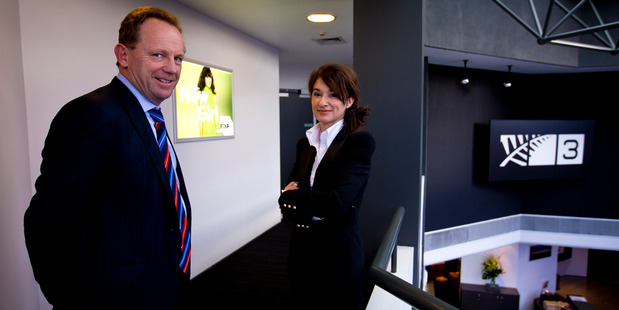 Brendon Gibson from KordaMentha Partners and MediaWorks board member Sussan Turner are working through the receivership. Photo / Dean Purcell
