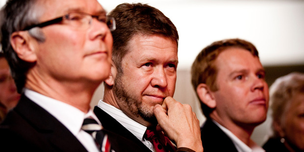 Labour MP David Cunliffe (centre) said it would be tempting for the government to get involved in the outcome of MediaWorks' dealings with Inland Revenue. Photo/ Dean Purcell.
