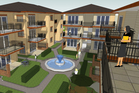 An artist's impression of the completed apartment complex which already has resource consent.