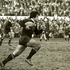 8. v Lions, Christchurch, 1977 Bryan 'Beegee' Williams in full flight at Lancaster Park, a test the All Blacks lost 9-13, though they rather fortuitously won the series 3-1. Photo / NZ Herald