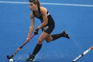 Gemma Flynn scored as the Black Sticks beat Belgium 4-2. Photo / Bay of Plenty Times