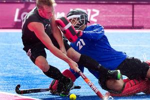 Hugo Inglis scored the only goal of the match. Photo / Brett Phibbs