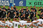 The New Zealand under-20 rugby team perform the haka ahead of their semifinal clash with England. Photo Martin Seras Lima/IRB.com
