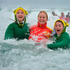 Otago Girls' High School pupils at the Polar Plunge at Middle Beach. Photo /ODT