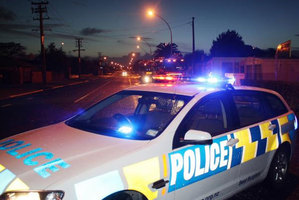 The police cordon is Hamilton this morning. Photo / NZ Police