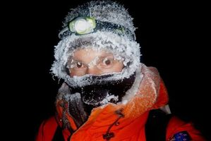 """Colin McArthur documents his """"winter"""" look as he heads back to Scott Base. Photo / Antarctica NZ"""