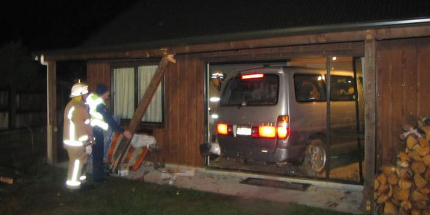This vehicle overcame a series of odds to eventually rest in a Lake Hawea family's lounge. Photo / Mark Price