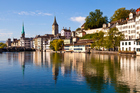 Zurich reflections in the Limmat River. Photo / Thinkstock