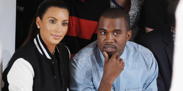 Kim Kardashian and Kanye West. Photo / Getty Images
