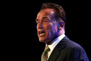 Arnold Schwarzenegger is taking on zombies before he returns to Terminator. Photo / AP