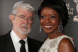 George Lucas and Mellody Hobson are married. Photo / AP