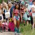 Festival goers arrive at the Glastonbury Music Festival. Photo / AP