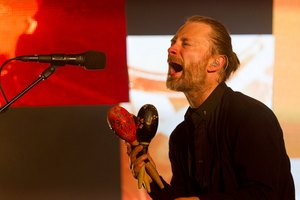 Thom Yorke likes to snack on sumac spiced aubergine and Lebanese salsa sliders before a playing a show. Photo / Greg Bowker