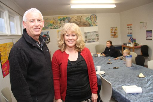 HELPING KIDS: John and Eileen Traill have volunteered for over three years to help run the breakfast club at Featherston School.