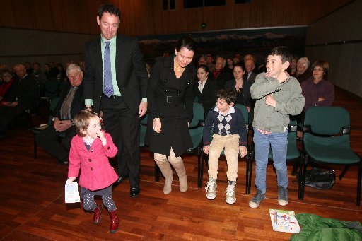 Charles Rooking Cater Awards, Carterton Events Centre, Wednesday 26 June 2013. Michael and Karen Williams and their children India, 4, Ollie, 8, and Tom, 10, winners of the 2013 Balance Farm Awards Supreme Award, the Balance Agri-nutrients: Nutrient Mana