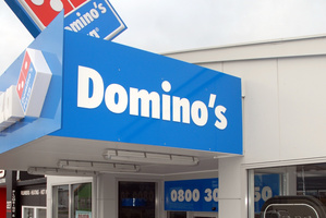 Two men held up a Domino's pizza shop with a BB gun.  Photo / Nathan Crombie