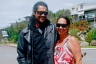Adam Morehu, shot dead after a burglary, with partner Kaly Gilbert.