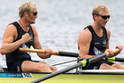 Hamish Bond and Eric Murray are on the cusp of further rowing history tonight at the latest World Cup on England's Dorney Lake. Photo / Brett Phibbs.