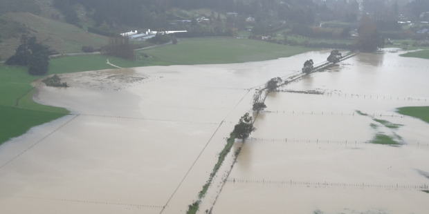 Loading Flooding in Hoon Hay Valley near Christchurch yesterday. Photo / Ron James