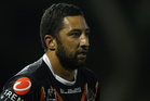Acting Wests Tigers captain Benji Marshall delivered a couple of big plays as his eventful week ended with a 17-12 NRL win over travel-sick Canberra at Campbelltown Stadium. Photo / Getty Images.