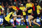 Liam Messam of the Chiefs charges forward during the round 18 Super Rugby match between the Chiefs and the Hurricanes. Photo / Getty Images.
