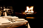 Andiamo's restaurant dining by the fire in Herne Bay. Photo / Babiche Martens