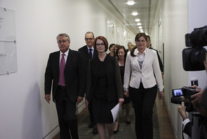 The blood spilled all over the carpet in the Australian Labor Party room is Julia Gillard's. Photo / Getty Images