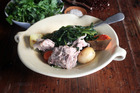 'The Pot[' Pork & puha with steamed vegetables. Photo / Doug Sherring
