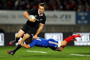 Ben Smith was one of the most penetrative All Black backs in the third test against France at New Plymouth. Photo / Getty Images