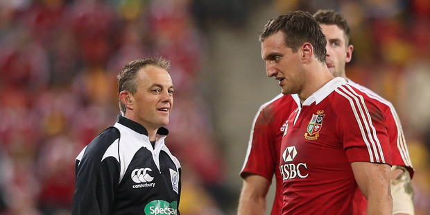 Chris Pollock, here with Lions captain Sam Warburton, has drawn scorn in Britain. Photo / Getty Images