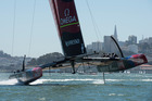 Emirates Team New Zealand say they have conceded a lot on safety issues in the design of their AC72.  Photo / Chris Cameron