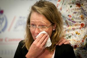 Sylvie van de Geer speaks to the media about a violent assault on her mother in Pakuranga. Photo / Natalie Slade