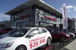 The new Citroen dealership that has just opened in Greenlane, Auckland.