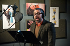 Steve Carell recording his part in 'Despicable Me 2'.